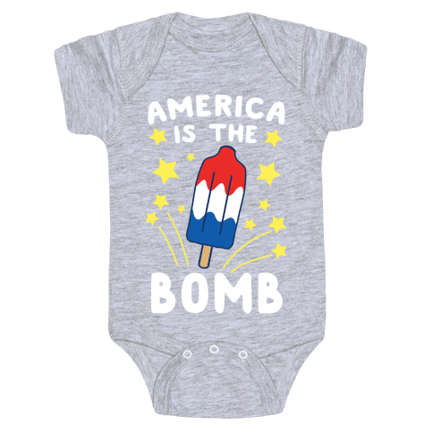 America is the Bomb - Pop Baby One-Piece