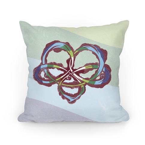 Polyamory Knot Pillow