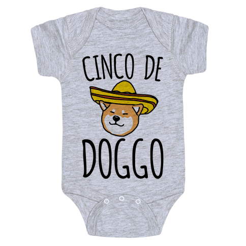 Cinco De Doggo Baby Onesy
