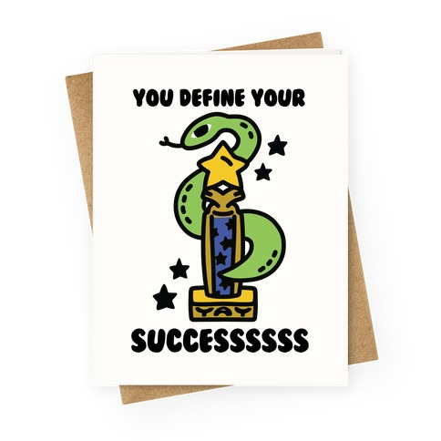 You Define Your Success Greeting Card