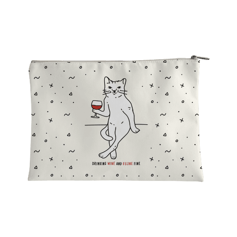 Drinking Wine And Feline Fine Accessory Bag