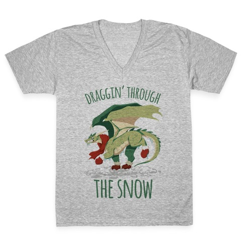 Draggin' Through The Snow V-Neck Tee Shirt