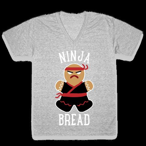 Ninja Bread V-Neck Tee Shirt