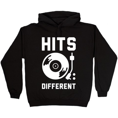 Hits Different Vinyl Record Hooded Sweatshirt
