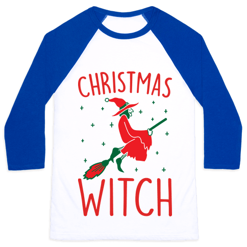 Christmas Witch Baseball Tee