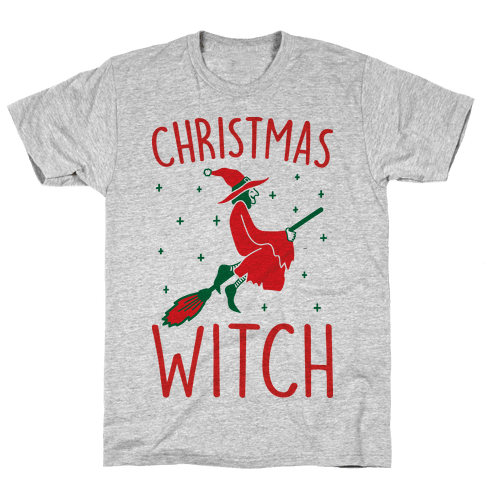 Christmas Witch Mens T-Shirt