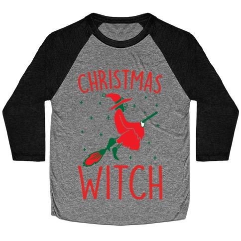 Christmas Witch Baseball Tee