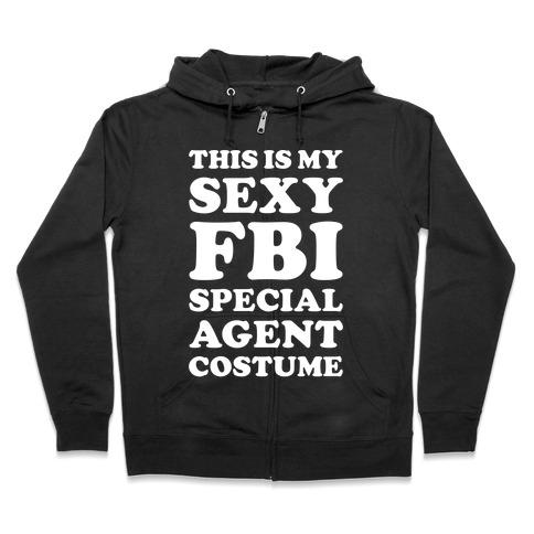 Sexy FBI Special Agent Zip Hoodie