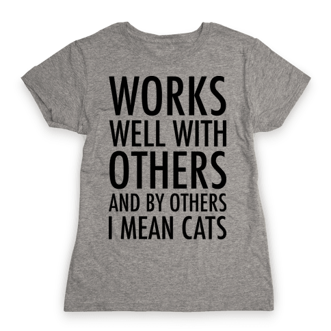 By Others I Mean Cats Womens T-Shirt