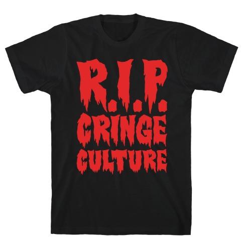 R.I.P. Cringe Culture White Print T-Shirt