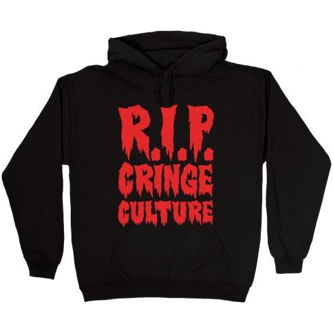 R.I.P. Cringe Culture White Print Hooded Sweatshirt