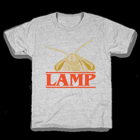 Lamp Moth Stranger Things Parody White Print Kids T-Shirt