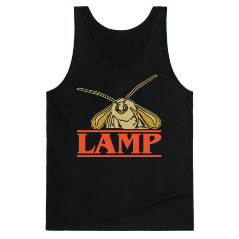 Lamp Moth Stranger Things Parody White Print Tank Top