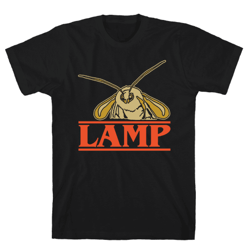 Lamp Moth Stranger Things Parody White Print Mens T-Shirt