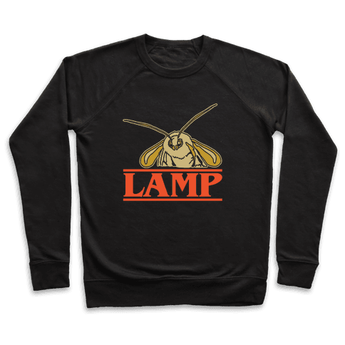 Lamp Moth Stranger Things Parody White Print Pullover