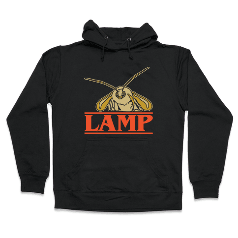 Lamp Moth Stranger Things Parody White Print Hooded Sweatshirt