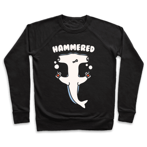 Hammered White Print Pullover