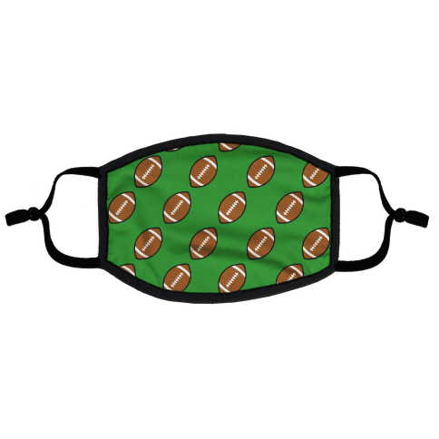 Football Pattern Flat Face Mask