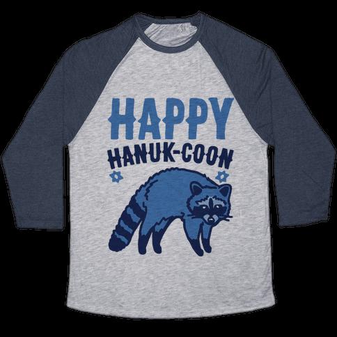 Happy Hanuk-Coon Parody Baseball Tee