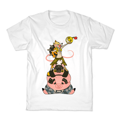 Our Names Are Junkrat and Roadhog! Kids T-Shirt