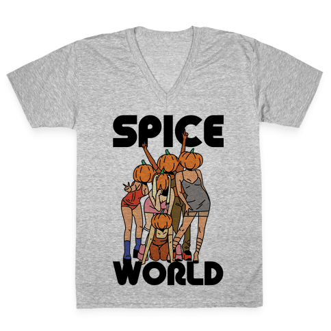 Spice World Pumpkin Spice V-Neck Tee Shirt