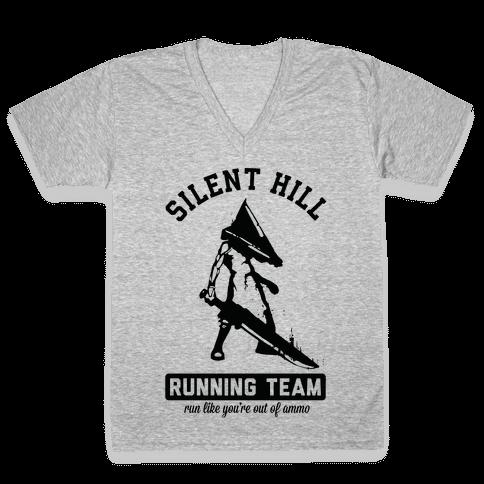 Silent Hill Running Team V-Neck Tee Shirt