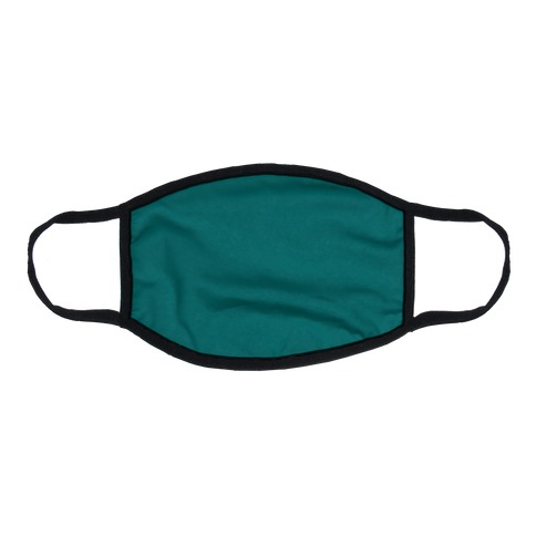 Teal Flat Face Mask