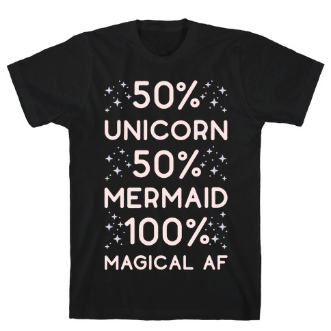 50% Unicorn 50% Mermaid T-Shirt