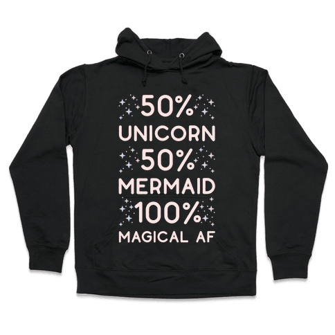 50% Unicorn 50% Mermaid Hooded Sweatshirt