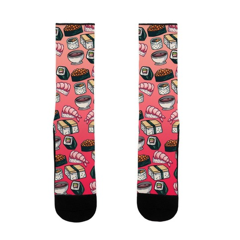 Red Sushi Pattern Sock