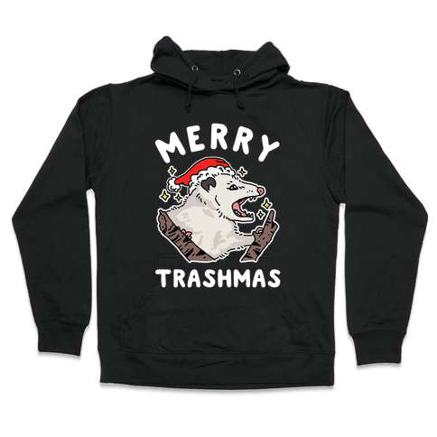 Merry Trashmas Opossum Hooded Sweatshirt