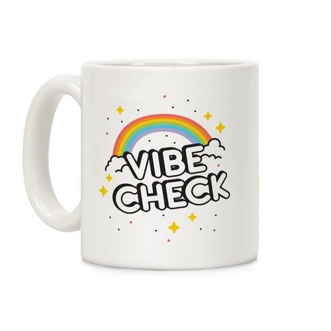Vibe Check Rainbow Coffee Mug