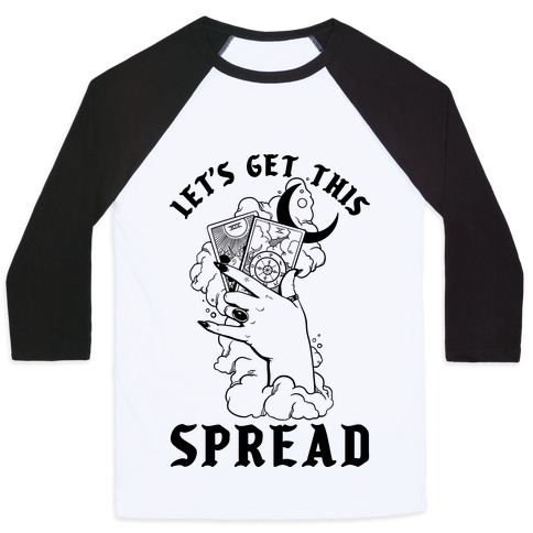 Let's Get This Spread Tarot Baseball Tee