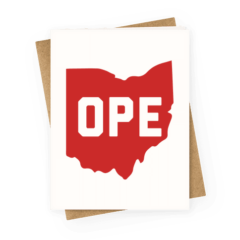 Ope Ohio Greeting Card