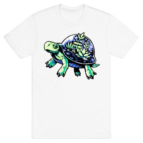 Turtle Succulent Terrarium T-Shirt