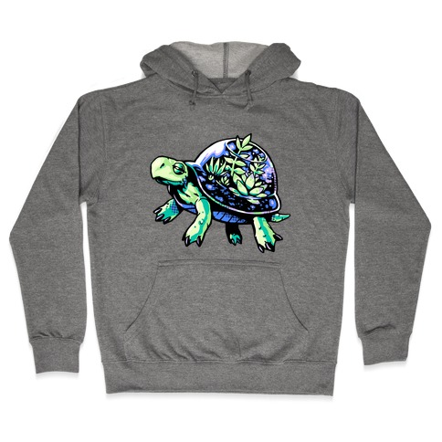 Turtle Succulent Terrarium Hooded Sweatshirt