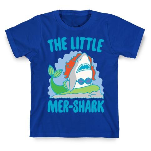 The Little Mer-Shark Parody White Print T-Shirt