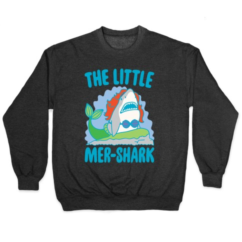 The Little Mer-Shark Parody White Print Pullover