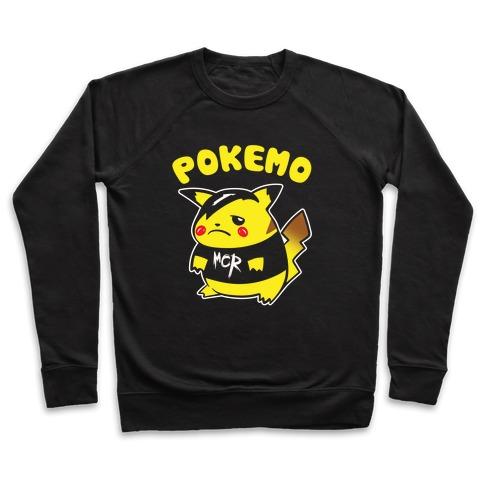 Pokemo Parody White Print Pullover
