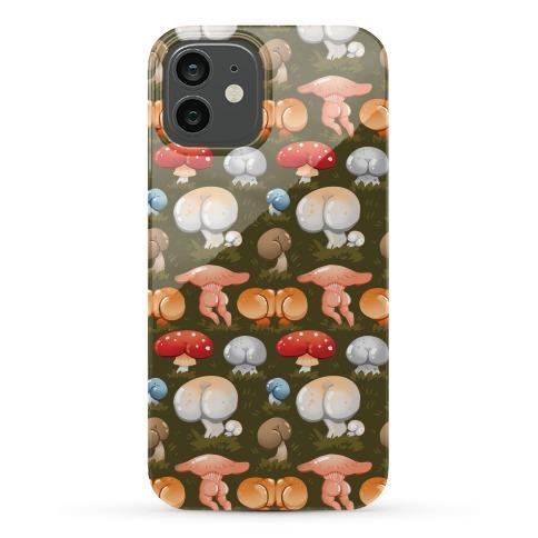 Butt Mushroom Pattern Phone Case