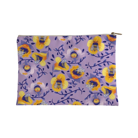 Sleepy Bumble Bee Butts Floral Accessory Bag