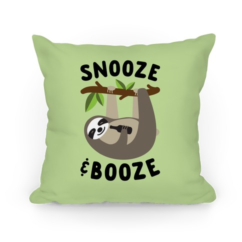 Snooze & Booze Pillow