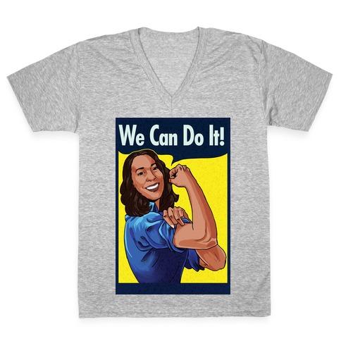 Kamala Harris We Can Do It V-Neck Tee Shirt