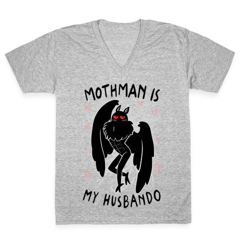 Mothman Is My Husbando V-Neck Tee Shirt