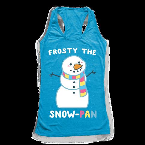 Frosty the Snow-Pan Racerback Tank Top