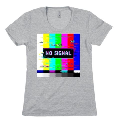 Glitchy No Signal Bars Womens T-Shirt