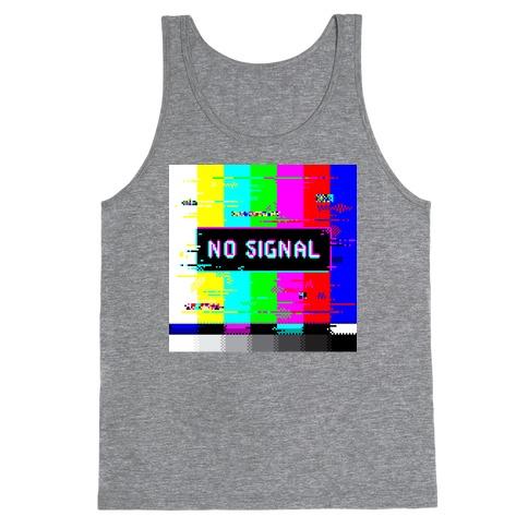 Glitchy No Signal Bars Tank Top