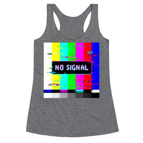 Glitchy No Signal Bars Racerback Tank Top