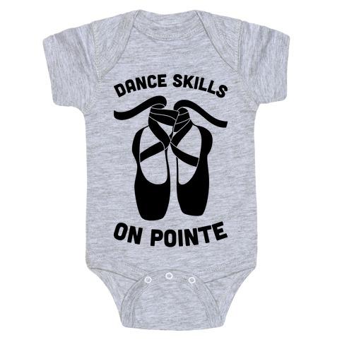 Dance Skills On Pointe Baby Onesy