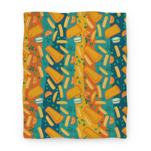 Groovy Fish And Chips Blanket